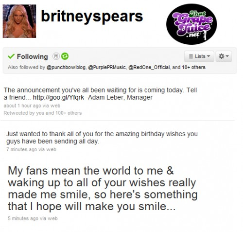 britney announcement e1291329193424 Britney Spears To Make Major Announcement Today