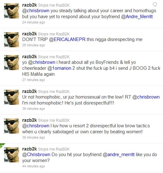 chrisraz4 Twitter Explodes: Raz B Claims Chris Brown Is A Homosexual