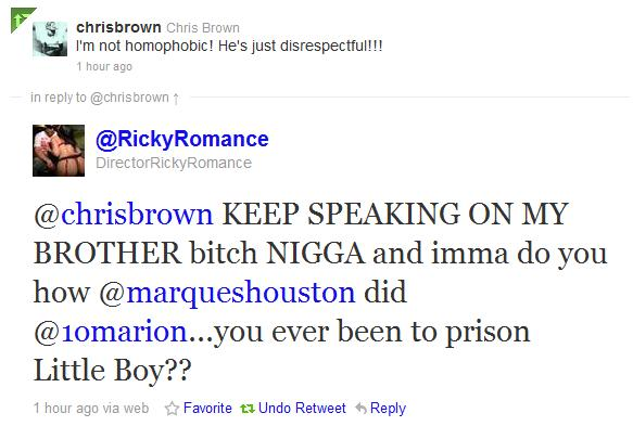 chrisraz5 Twitter Explodes: Raz B Claims Chris Brown Is A Homosexual