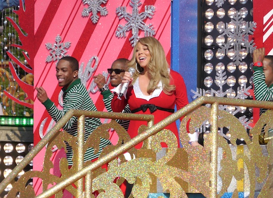 mariah1 Hot Shots: Mariah Carey Films Disney Parks Christmas Day Parade Performance