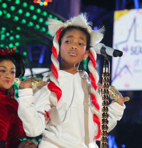 willow xmas e1291545830925 Willow Smith Whips Holiday Hair (Pics & Performance Clip)