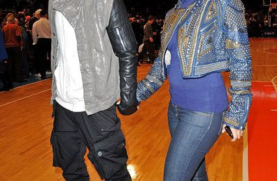Hot Shots: Alicia Keys, Swizz Beatz & Kanye West Attend Knicks Vs Heat Game In NYC