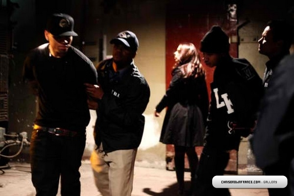 chrisbrown4 Hot Shots: Chris Brown & Tyga Shoot Wonder Woman/Regular Girl Video