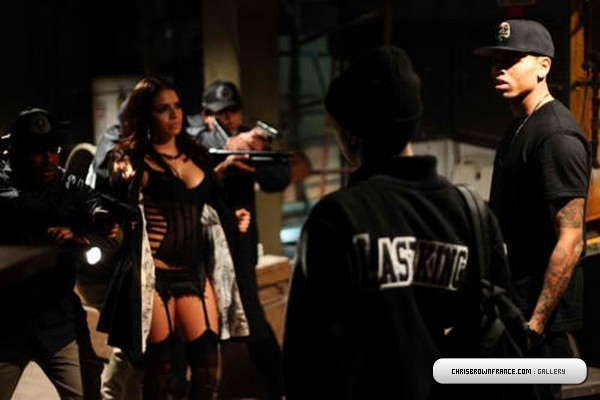 chrisbrown5 Hot Shots: Chris Brown & Tyga Shoot Wonder Woman/Regular Girl Video