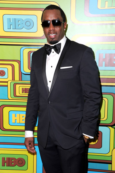diddy Hot Shots: Artists Party After The Golden Globes