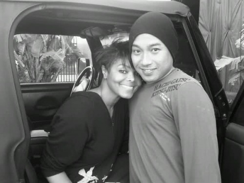 Photo of Janet Jackson & her friend dancer  Gil Duldulao - Longtime