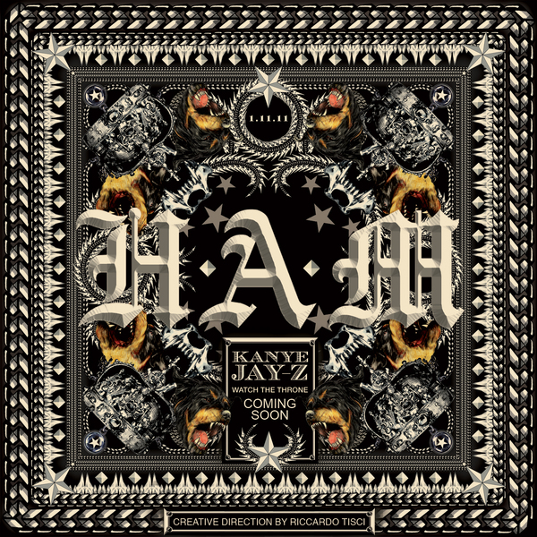 kanyejay Kanye West Reveals H.A.M Single Artwork