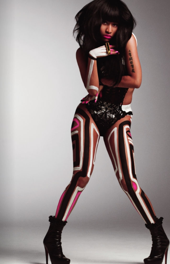 nicki fierce Minaj Goes Tribal In Must See V Shoot