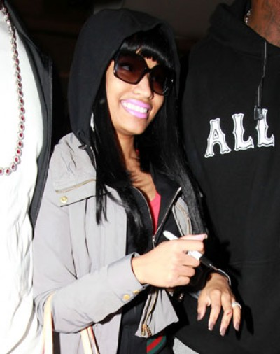 nicki minaj1 e1295451685824 Hot Shots: Nicki Minaj Arrives In London Town
