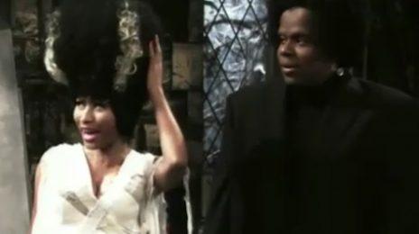 Video: Nicki Minaj Becomes 'Bride of Blackenstein' On SNL (Skit)
