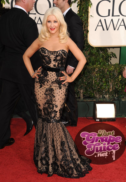 xtina 453a Hot Shots: Golden Globe Awards 2011 Red Carpet Arrivals
