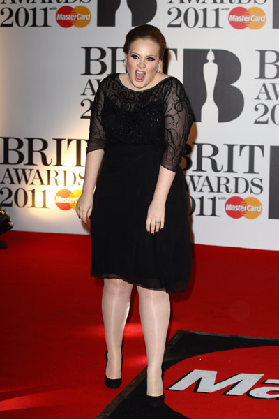 adele2 BRIT Awards 2011: Red Carpet