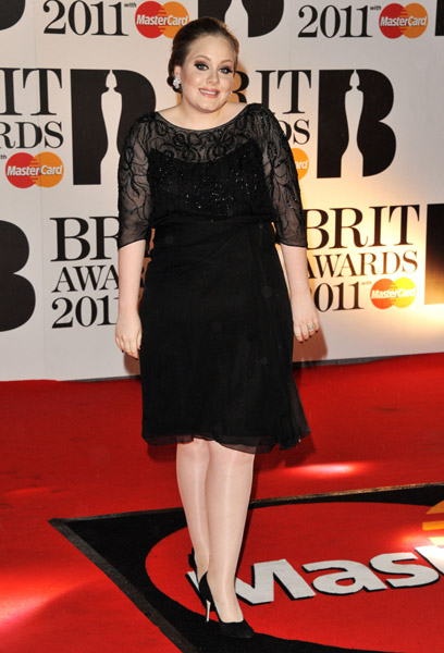 adele3 BRIT Awards 2011: Red Carpet