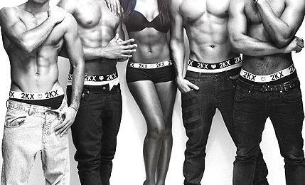 Hot Shot: JLS & Alexandra Strip Down To Their Underwear