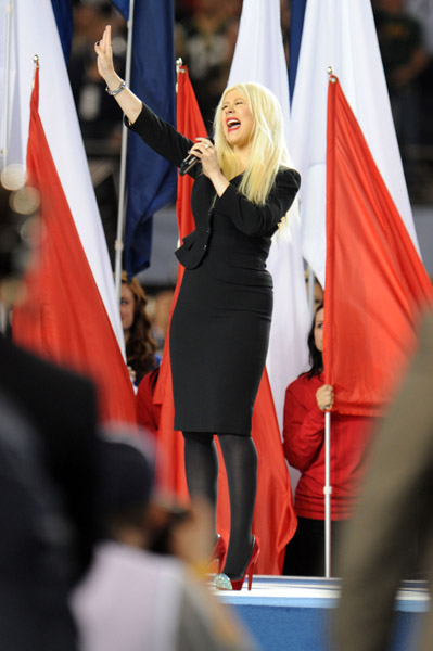 christinaaguilera Christina Aguilera Ruins The National Anthem At Super Bowl XLV