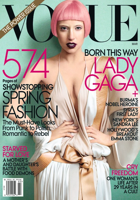 gaga cover Lady GaGas Vogue Shoot; 2nd Born This Way Single Announced