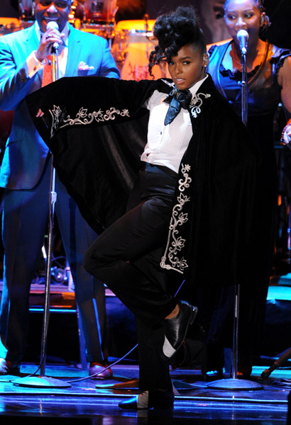 janelle 123 Hot Shots: Whitney, R. Kelly, Janelle Monae & More Shine On Pre Grammy Stage