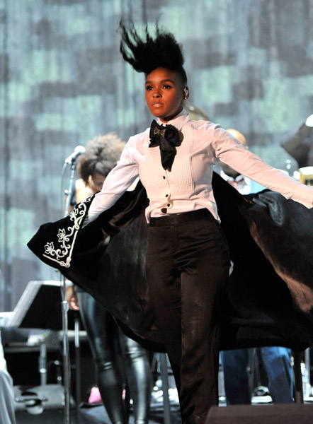 janelle monae12 Hot Shots: Whitney, R. Kelly, Janelle Monae & More Shine On Pre Grammy Stage