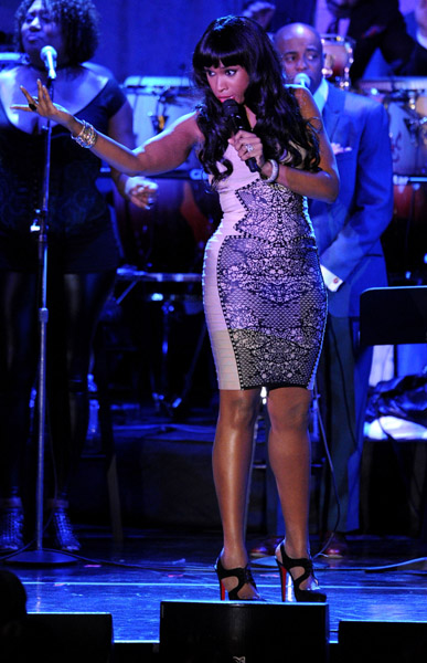 jennifer hudson 123 Hot Shots: Whitney, R. Kelly, Janelle Monae & More Shine On Pre Grammy Stage