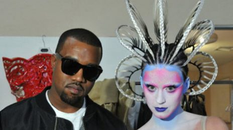 Hot Shot: Katy Perry & Kanye West Film 'E.T' Music Video