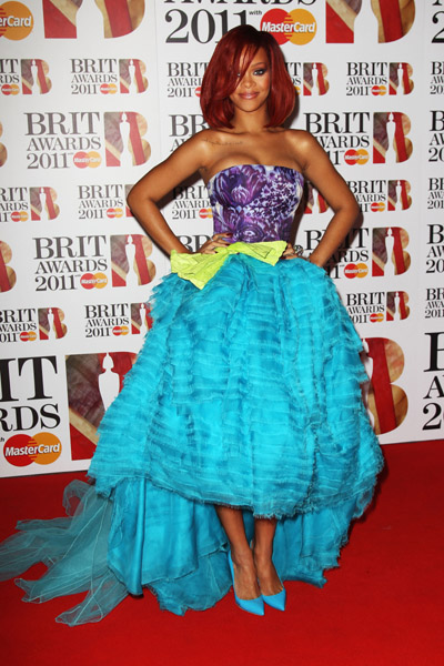 rihanna  BRIT Awards 2011: Red Carpet