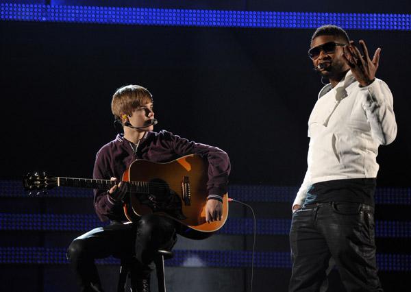 Hot Shots: Usher, Justin Bieber & Jaden Smith Rehearse For ...  Hot Shots: Ushe...