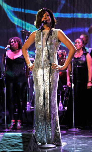 whitney 121 Hot Shots: Whitney, R. Kelly, Janelle Monae & More Shine On Pre Grammy Stage