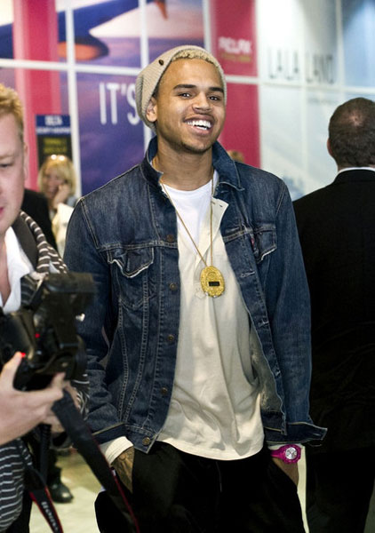 chrisbrown211 Hot Shots: Chris Brown Arrives At LAX