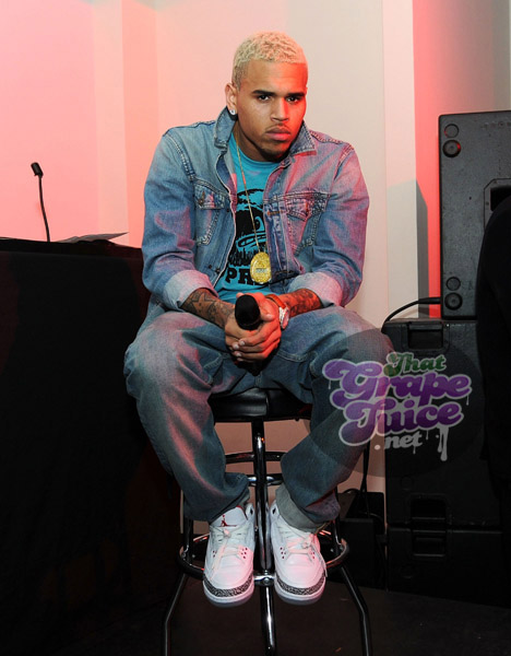chrisbrown44 Hot Shots: Chris Brown Hosts F.A.M.E Listening Session In NYC