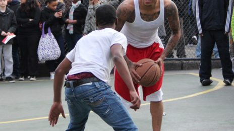 Hot Shots: Chris Brown Plays Ball In NYC & Celebrates The Release Of 'F.A.M.E'
