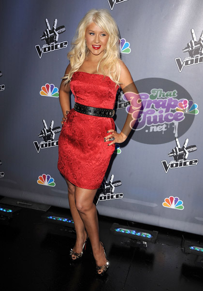 christinaaguilera2 Hot Shots: Christina Aguilera Attends NBCs The Voice Press Conference