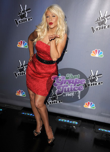 christinaaguilera3 Hot Shots: Christina Aguilera Attends NBCs The Voice Press Conference