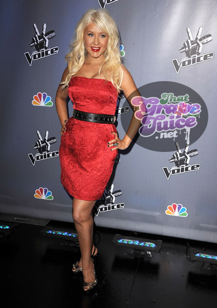 christinaaguilera6 Hot Shots: Christina Aguilera Attends NBCs The Voice Press Conference