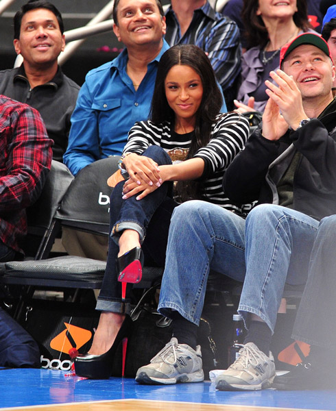 ciara3 Hot Shots: Ciara & Ne Yo Attend Pacers Vs Knicks Game