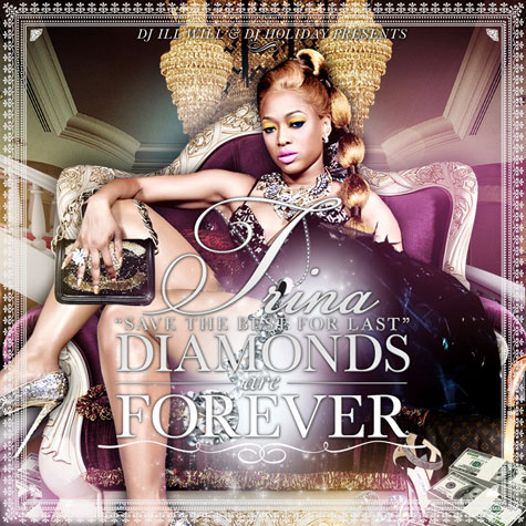 trina daf Hot Shot: Trinas Diamonds Are Forever Mixtape Cover