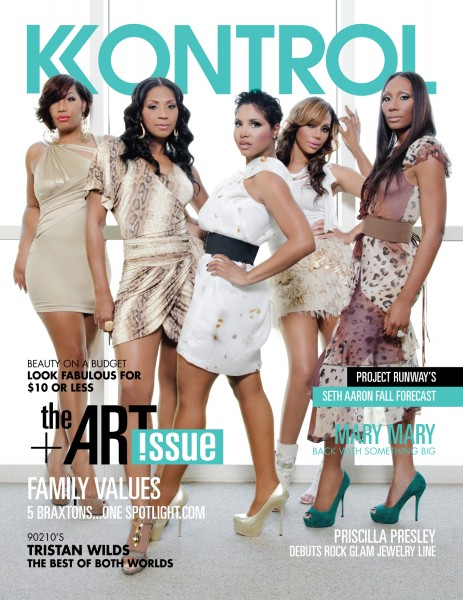 Traci Trina Toni Tamar Towanda Hot Shot: The Braxton Sisters Cover Kontrol Magazine
