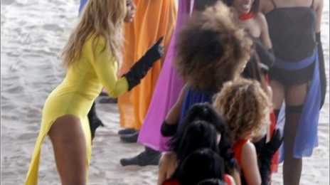 Hot Shots: Beyonce On Set Of New Video (Day 3)