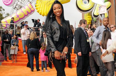 Hot Shot: Brandy Attends Kids' Choice Awards