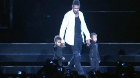 Hot Shots: Usher Celebrates 'Bring You Kids To Work Day'