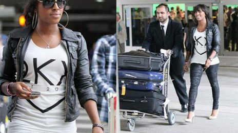 Hot Shot: Alexandra Burke Arrives In LA