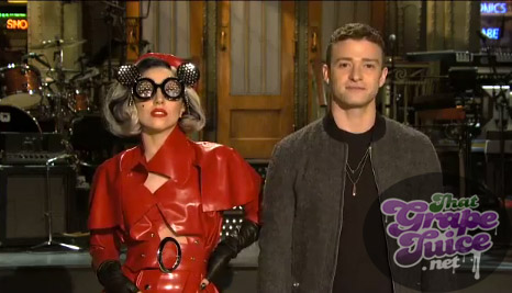 gaga snl Watch: Lady GaGa SNL Promo With Justin Timberlake