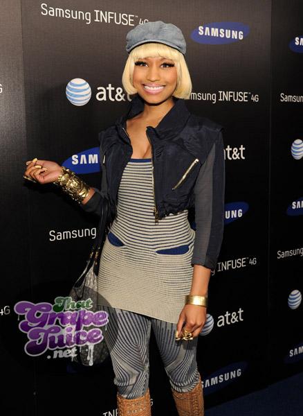 nicki 89a Hot Shots: Nicki Minaj, Jennifer Hudson, & Ciara Come Out For Samsung