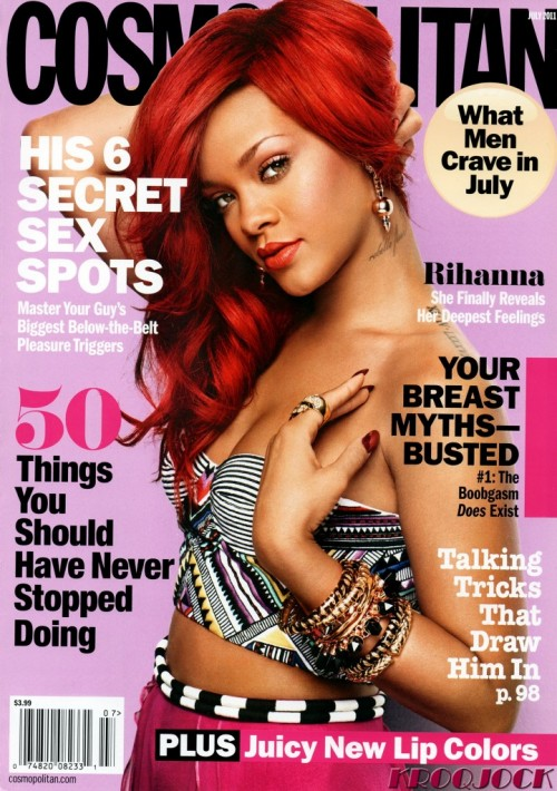 rihanna cosmo e1306684246707 Hot Shot: Rihanna Covers Cosmopolitan