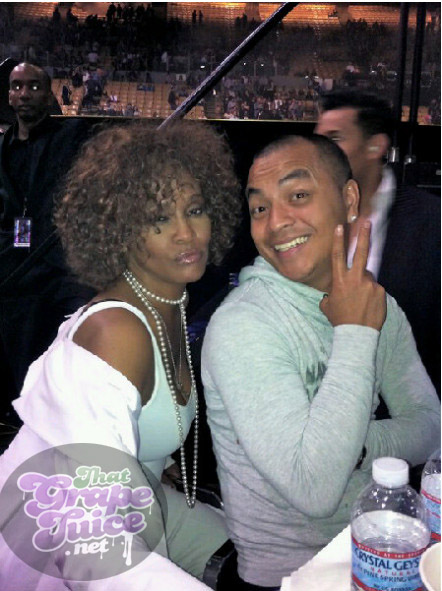 whitney prince Hot Shot: Whitney Houston Attends Prince Show