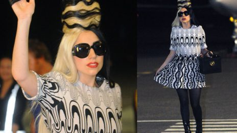 Hot Shot: Lady GaGa Touches Down In Taiwan