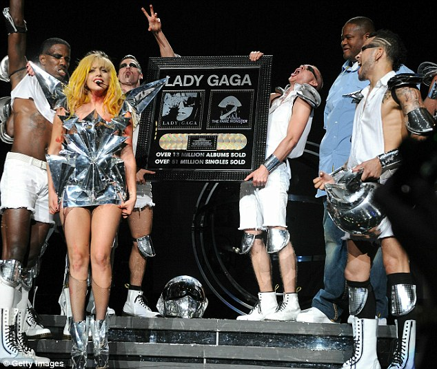 Lady GaGa Plaque Lady GaGa Addresses Commercially Unsuccessful Rivals