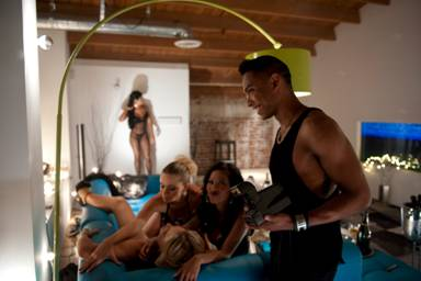 Hot Shots: Miguel On Set Of 'Quickie/Girls Like You' Visual