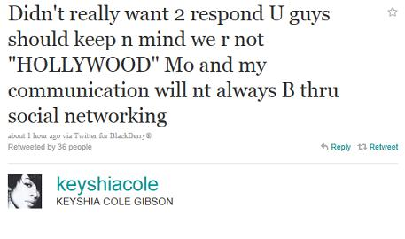 keyshia cole tweet. Keyshia Cole Speaks on Absence from Monicas Wedding