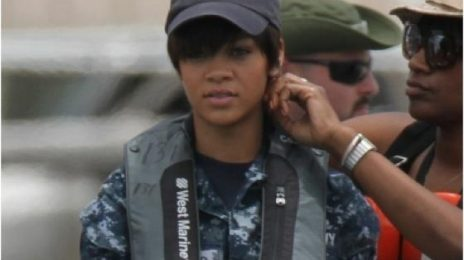 Rihanna Works Overtime on 'BattleShip' Set