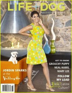 Jordin sparks Life Dog Mag3 231x300 Hot Shots:  Jordin Sparks Strikes a Pose For Pooches